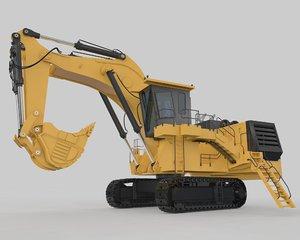 3D mining heavy excavator