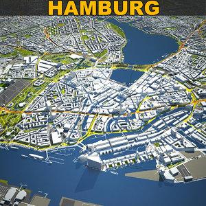 hamburg skyline 3D model
