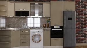 kitchen furniture design atash 3D model
