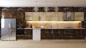 kitchen furniture design interior model