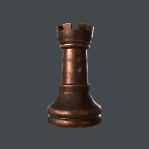 rook chess piece 3D model