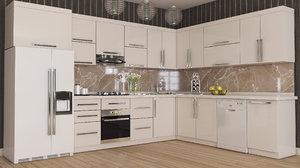 3D kitchen furniture design model