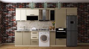 3D kitchen furniture design atash