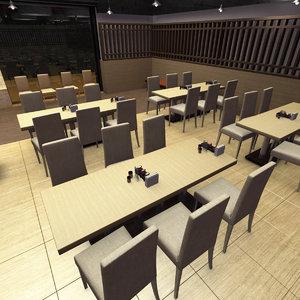 3D hong kong style restaurant