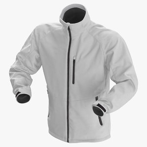 male winter jacket 01 3D model