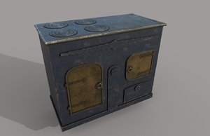 3D old stove