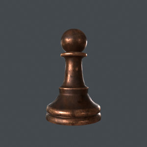 pawn chess piece 3D model