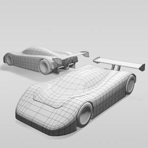 car group c variants 3D model