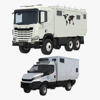 3D generic expedition rv truck model