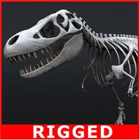 Tyrannosaurus Rex Skeleton (Rigged)