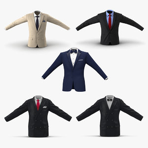 3D mens suit jackets 2 model
