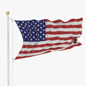 3D loop flag 2 animation