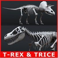 3ds rigged tyrannosaurus rex skeleton