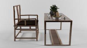 furniture set chinese tea 3D