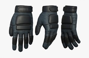 fashion gloves 3D