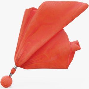 referee flag red model