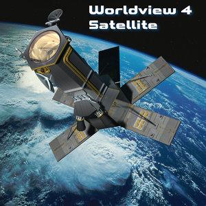 3d worldview-4 satellite model