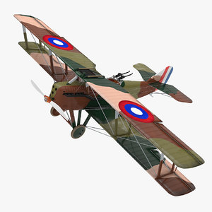 3D model packard-lepere lusac-11 ww1 fighter