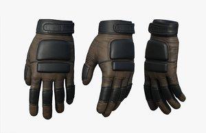 3D fashion gloves hand