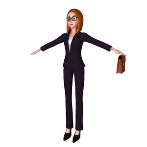 3D business woman