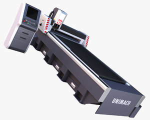 laser cutting machine metal 3d model