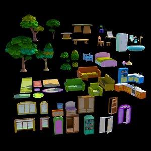 cartoon furniture model