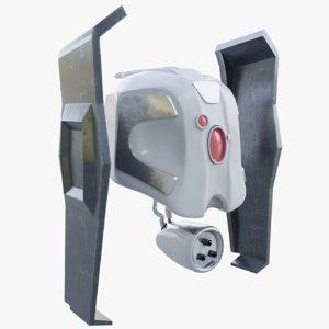 3D futuristic war drone