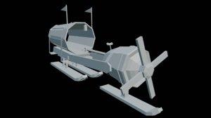 trash wagon 3D model