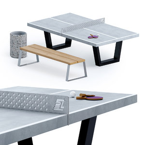 3D tennis table outdoor model