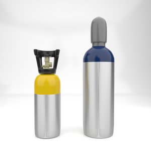 helium tank 3D