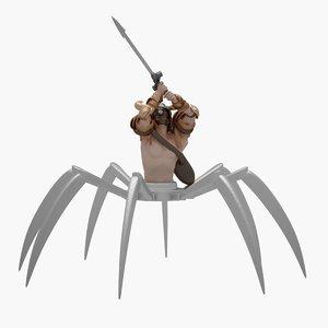 3D spider warrior model