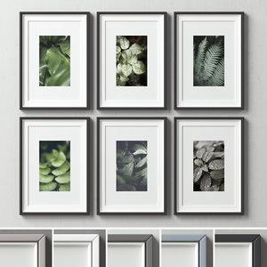 picture frames set -126 3D