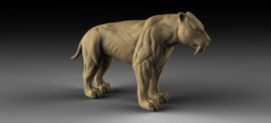 3D sabertooth print modelling
