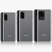 Samsung Galaxy S20 and S20 Plus and S20 5G Ultra cosmic black & gray