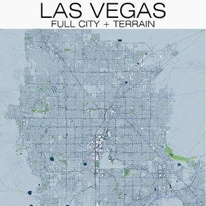 las vegas city terrain model