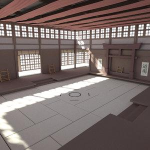dojo room 3D model