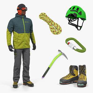 3D climbing equipment 3 model