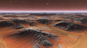 scene mars crater pbr model