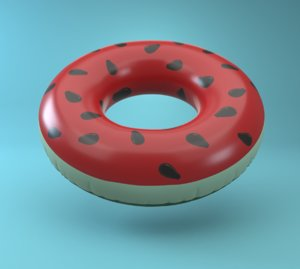 3D inflatable pool ring watermelon model