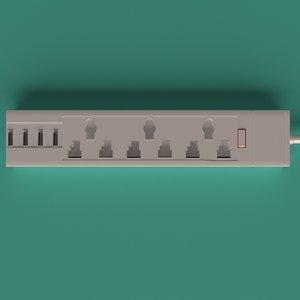 3D model power powerstrip strip