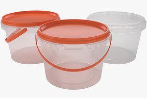 3D plastic container 500ml model
