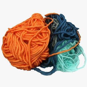 3D model debris yarn
