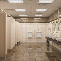 Public Bathroom Interior Scene