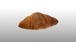 3D scanned croissant polys model