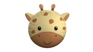 3D giraffe pillow