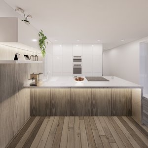best parametric kitchen cabins 3D