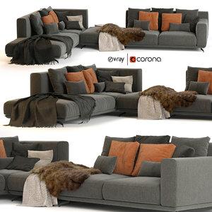3D dalton sofa ditre italia