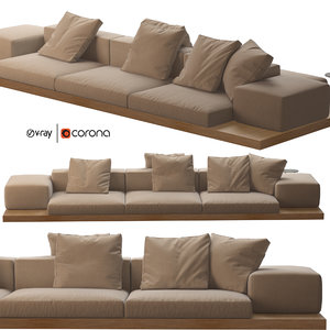 3D dock sofa b italia