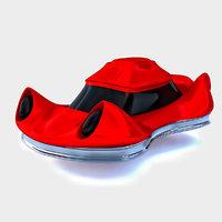 Futuristic Car Concept Red 02