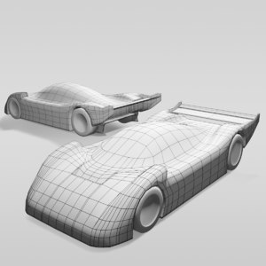 3D model car group c variants